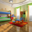 Interior of baby room — Stock Photo #2501946