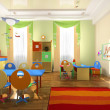 Stock Photo: Interior of the baby office