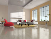 Modern interior of the room — Stock Photo