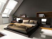 Interior to bedrooms — Stock Photo