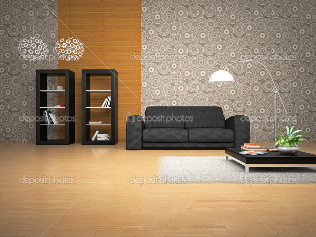 Interior of the room with soft furniture  Stock Photo #2503212
