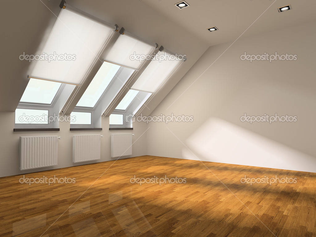 Interior of the room without furniture — Stock Photo #2565433