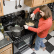 Stock Photo: Cooking pasta dish