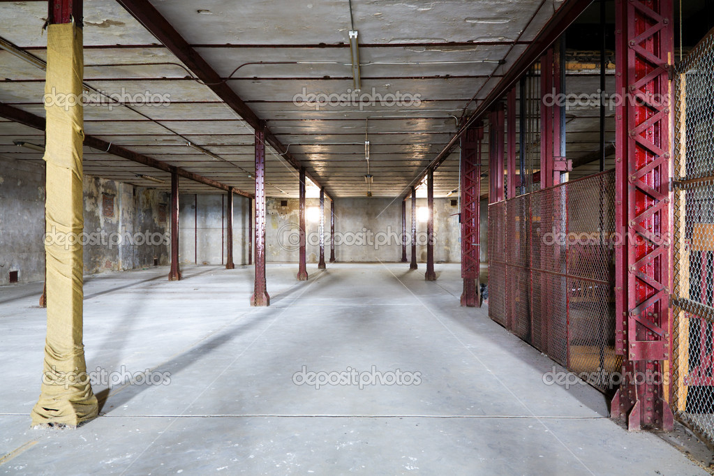 Interior of an old abandoned warehouse — Stock Photo #2451538