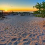 Michigan sunset — Stock Photo