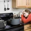 Stock Photo: Kitchen frustrations