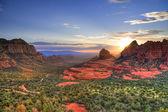 Atardecer de rocas rojas — Foto de Stock