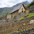 Machu Picchu Gate House - Stock Photo