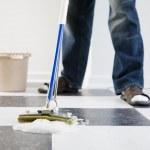 Mopping floor — Stock Photo
