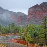 Road through Red Rocks — Stock Photo