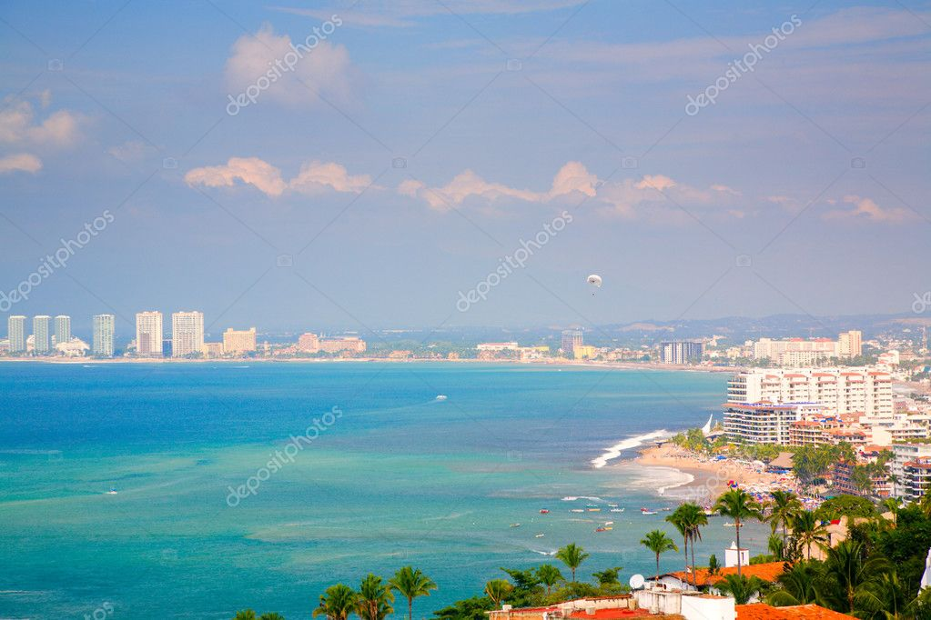 Beautiful view of Puerto Vallarta, Mexico and the Banderas Bay — Stock Photo #2656861