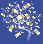 Two hundred euro tree — Stock Photo