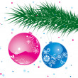 Christmas ball on tree — Stock Photo