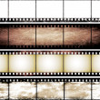 Isolated vintage film frame collection — Stock Photo