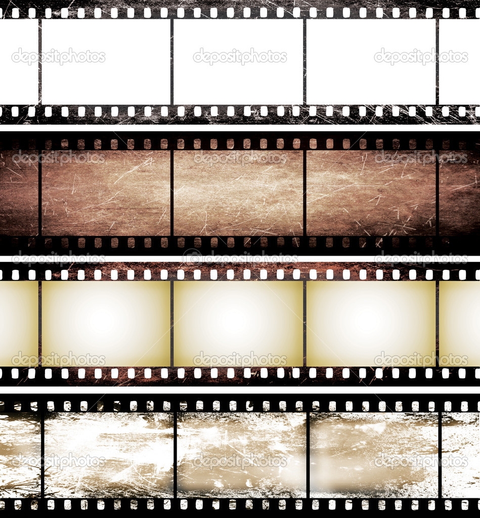 Isolated vintage film frame collection — Stock Photo © adypetrisor ...