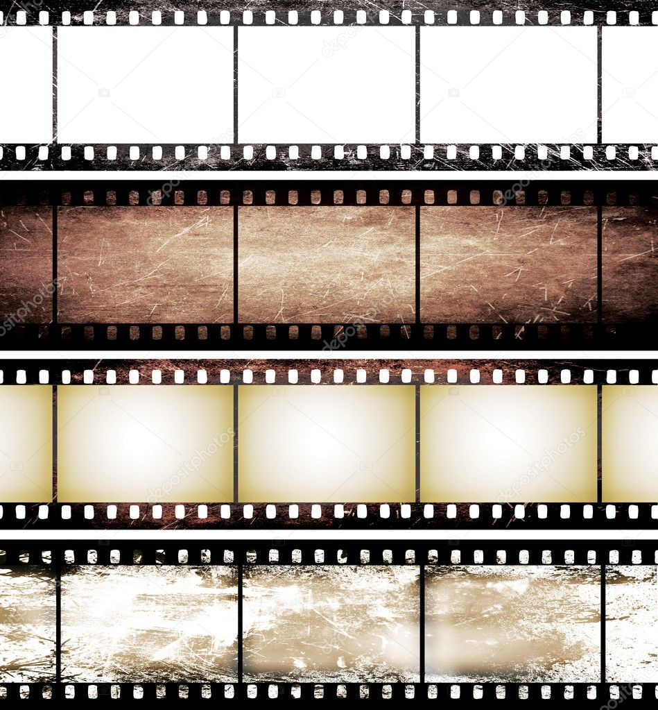 Isolated Vintage Film Frame Collection Stock Photo Reel Wallpaper Border
