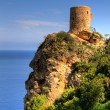 An old watch tower on a cliff — Stock Photo