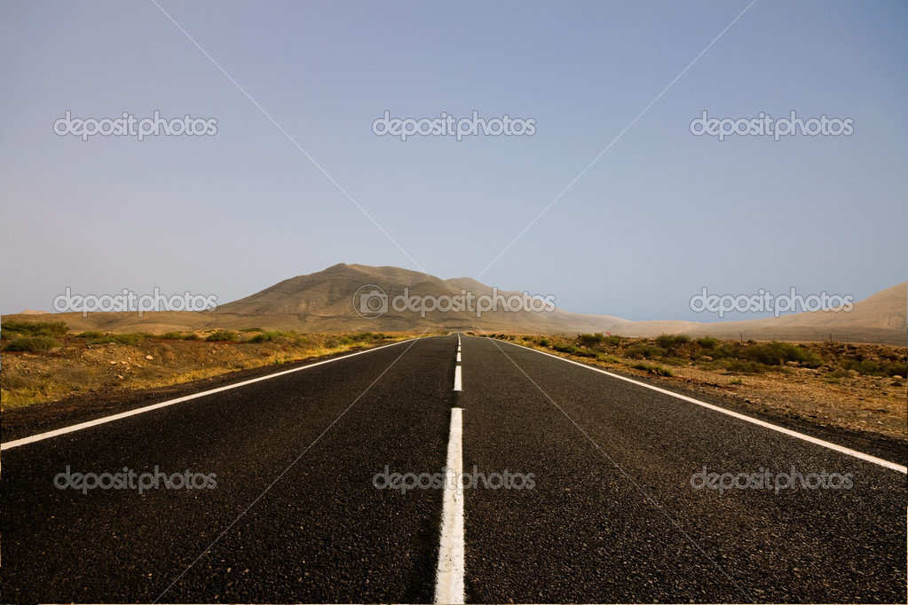 An endless road  Stock Photo #2385447