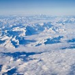 Aerial view on the Swiss alps — Stock Photo #2436486