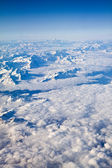 Aerial view on the Swiss alps — Stock Photo