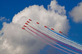 The red arrows heading for the clouds — Stock Photo