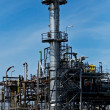 Stock Photo: An oil refinery plant
