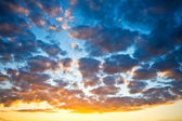 A beautiful sunset sky — Foto Stock