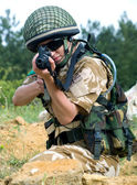 British girl soldier — Stock Photo