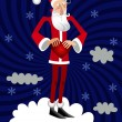 Loving Santa - Stock Vector
