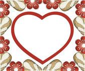 Cornice fiore rosso — Foto Stock