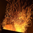 Stock Photo: Fire sparkles