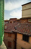 Roof from the window — Stock Photo