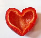 Red paprika heart — Stock Photo