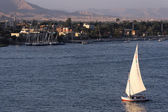 Sailing boat on the Nile river — Stock Photo