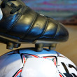 Foto de Stock  : Ball and football boot