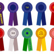 Royalty-Free Stock Vector Image: 1st place champion award ribbons vector