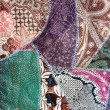 Batik quilting from indonesia - Stock Photo