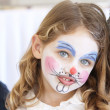 Face painting portrait — Stock Photo