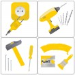 Royalty-Free Stock Vector Image: Household repair icons