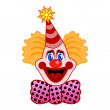 Stock Vector: Celebration clown
