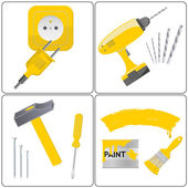 Household repair icons — Stock Vector
