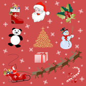 Christmas pictures — Stock Vector