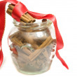 Cinnamon jar — Stock Photo