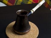 Coffee in a turk — Stock Photo