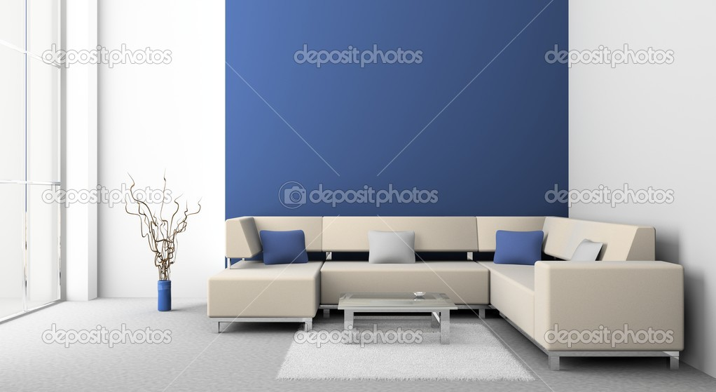 Modern sofa  in the  room  — Stock Photo #2507130