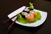 Rolled and sushi — Stock Photo