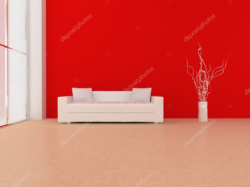 Modern sofa  in the  room   Stock Photo #2667325