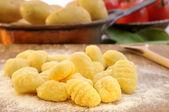 Gnocchi and potatoes — Stock Photo