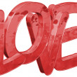 Stock Photo: Love - Grunge - isolated - 3D