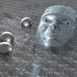 Stock Photo: Head in plasm- 3D